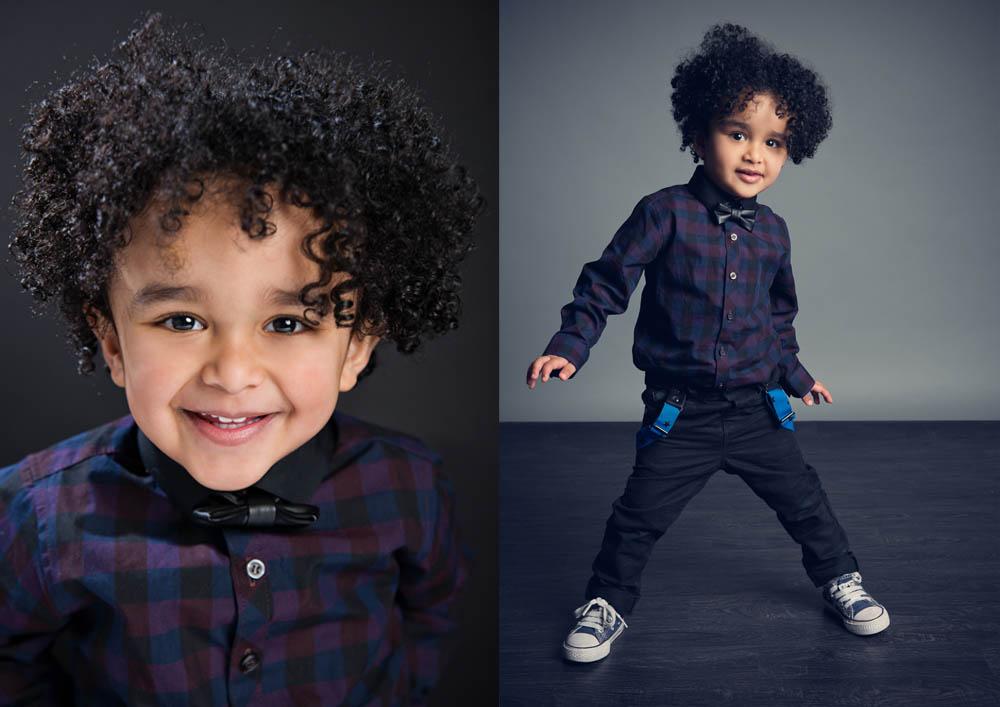 Child model portfolio photoshoot