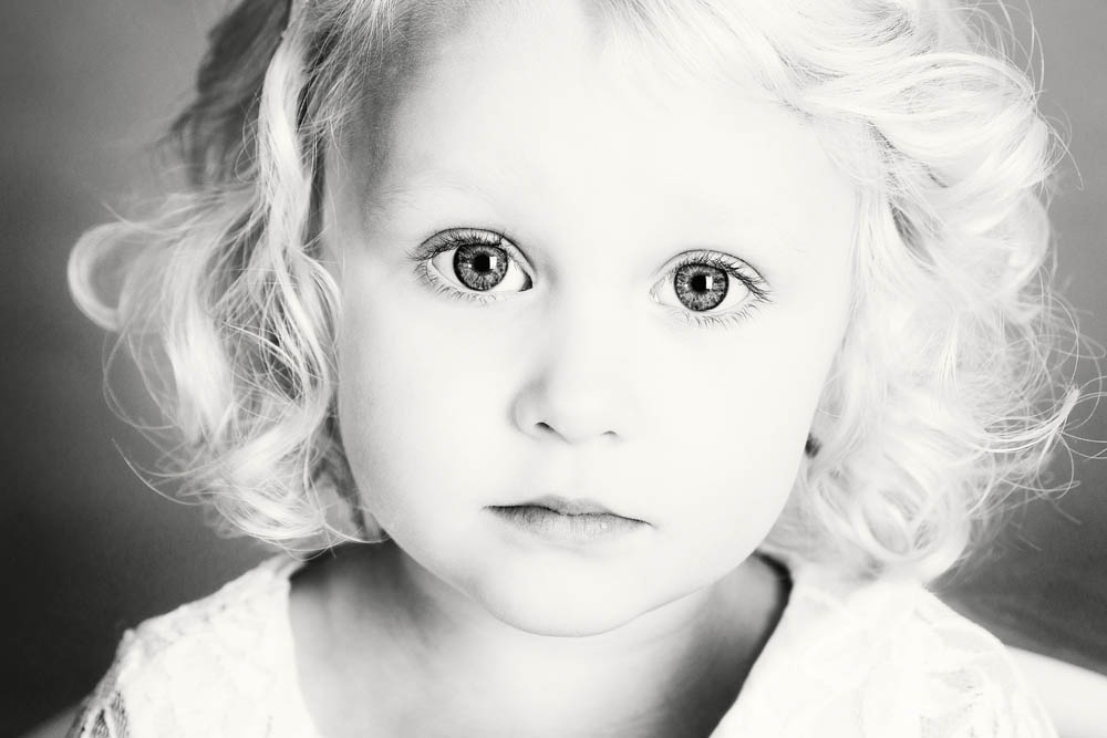 Black and white children portraits Nottingham
