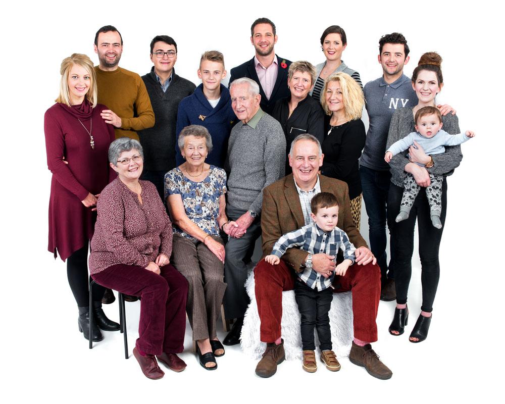 Family portraits Nottingham, Focus and shoot Photography studio Beeston