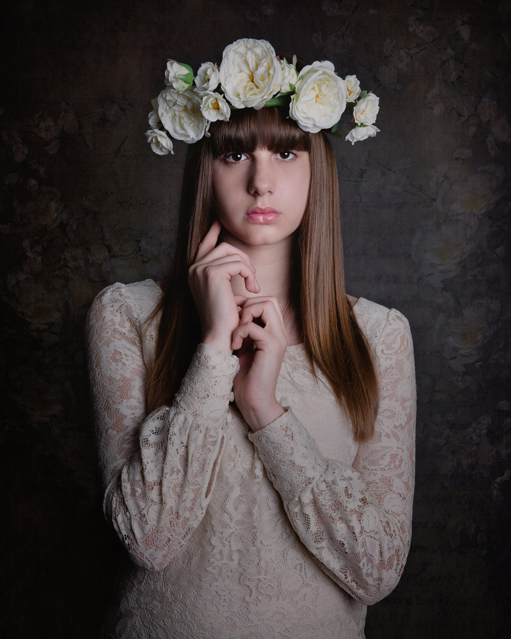 child teen model lace dress fine art award winning photographer Nottingham