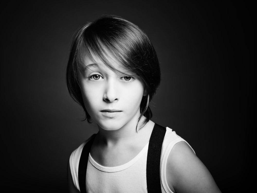 Fine art children black and white portrait photography Nottingham