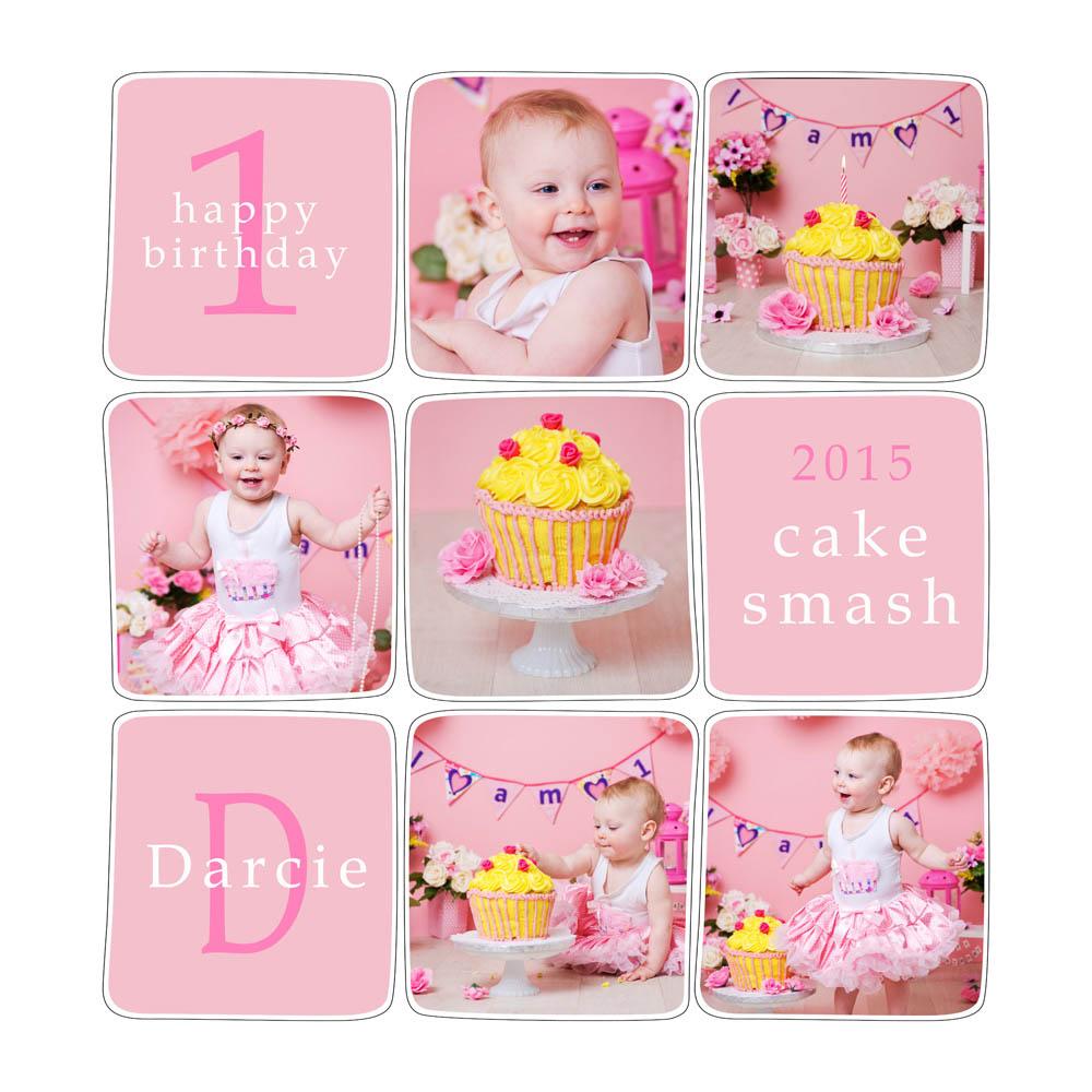 Cake smash first birthday photoshoot