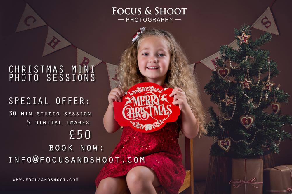 Special offer, Christmas mini photo sessions, Nottingham photo studio
