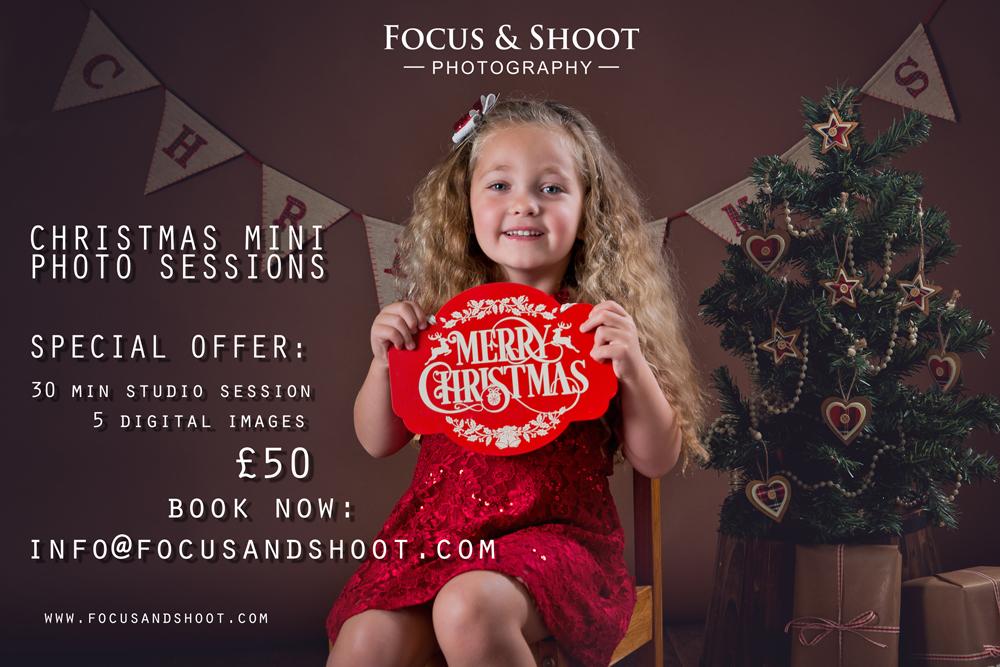 Special offer, Christmas mini photo sessions, Nottingham photo studio