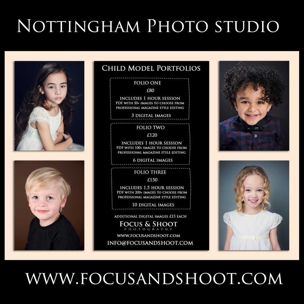 Actors headshots and model portfolios, Nottingham photographer