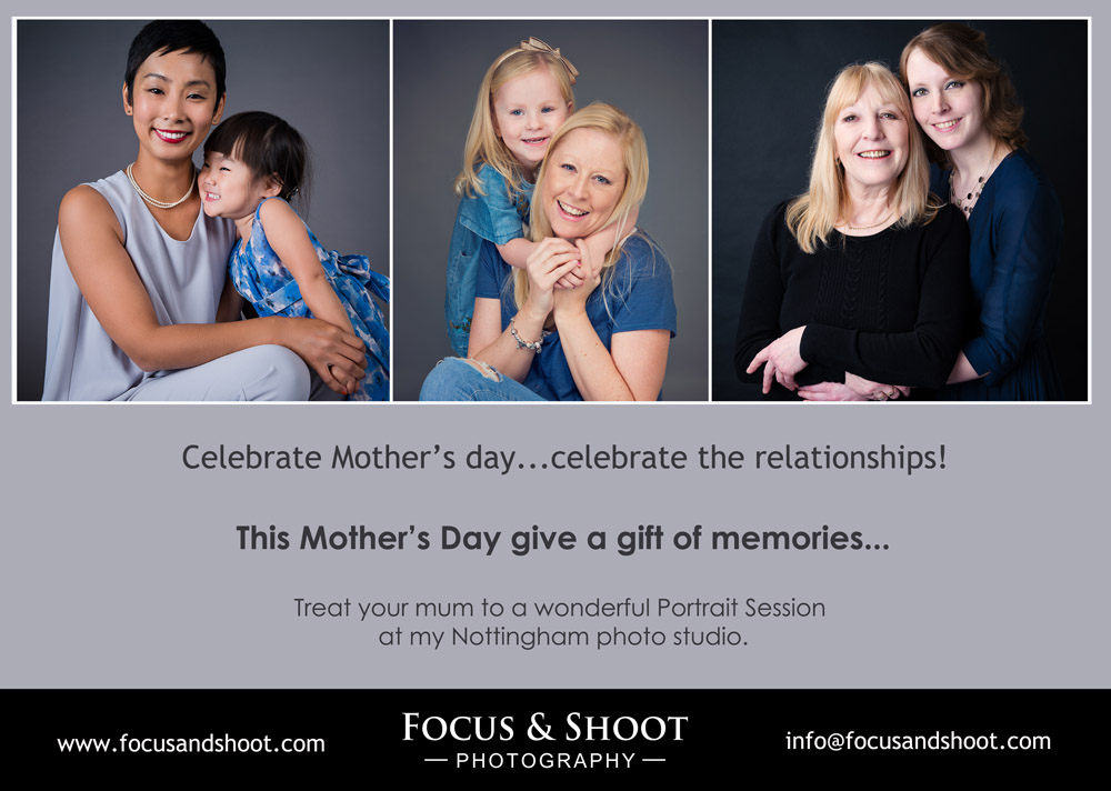 Mother's Day Special Offer | Gift vouchers at Focus and Shoot Photography Beeston, Nottingham